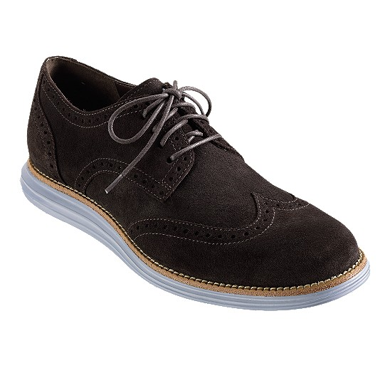 Cole Haan LunarGrand Wingtip T Moro Suede Outlet Coupons