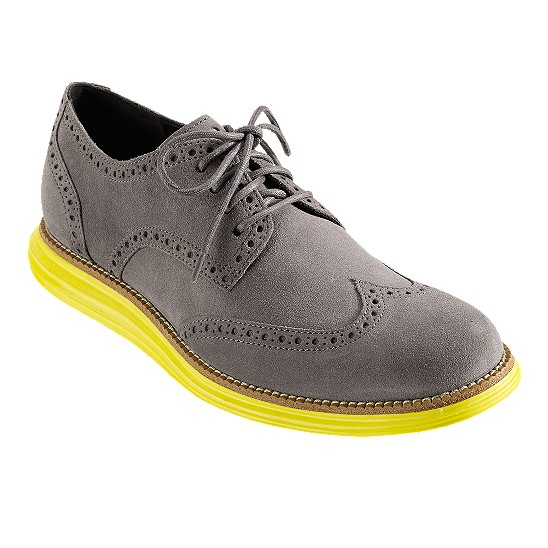 Cole Haan LunarGrand Wingtip Charcoal Grey Suede Outlet Coupons