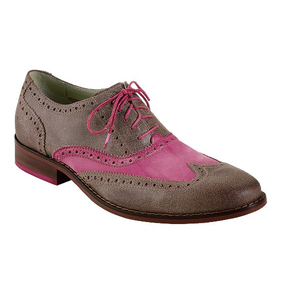 Cole Haan Air Colton Casual Wingtip Smoke/Fuschia Outlet Coupons