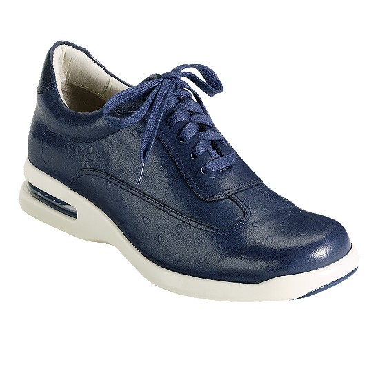 Cole Haan Air Conner Navy Ostrich Print Outlet Coupons
