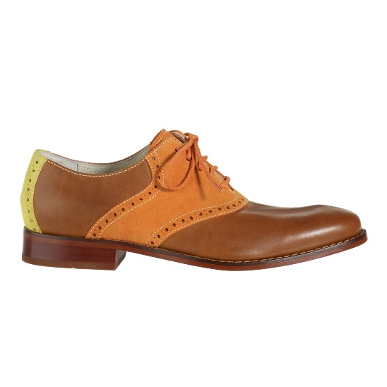 Cole Haan Air Colton Saddle Oxford Cognac/Orange Suede/Yellow Suede Outlet Coupons
