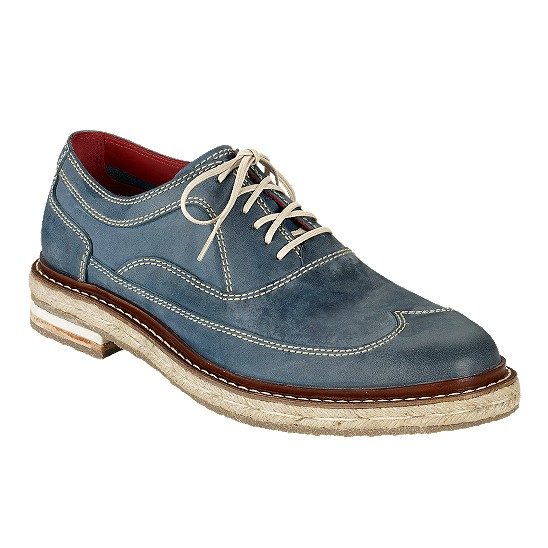 Cole Haan Cooper Wingtip Navy Washed Outlet Coupons