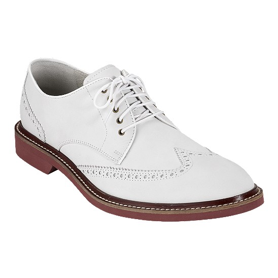 Cole Haan Air Franklin Wingtip Oxford White Nubuck Outlet Coupons