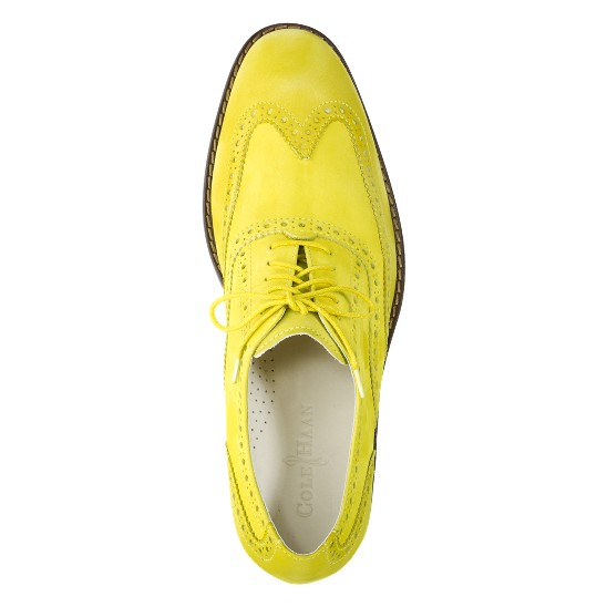 Cole Haan Air Colton Casual Wingtip Yellow/Yellow Nubuck Outlet Coupons
