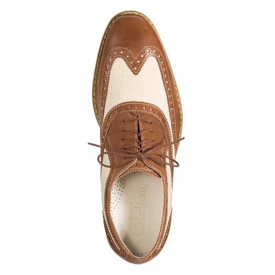 Cole Haan Air Colton Spectator Wingtip Salt Canvas/Cuoio Outlet Coupons