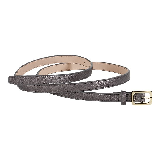 Cole Haan Village Soft Skinny Rectangle Belt Gunsmoke Outlet Coupons