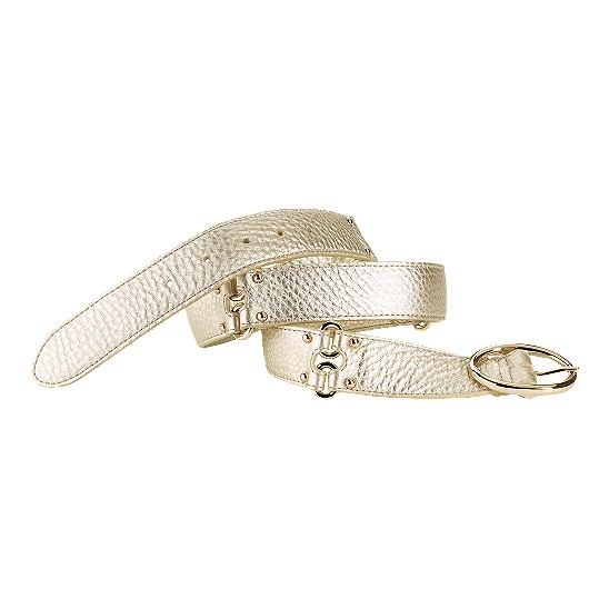 Cole Haan Village Double Ring Belt White Gold Outlet Coupons