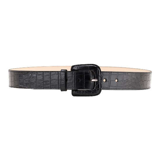 Cole Haan London Croc Wide Belt Black Outlet Coupons
