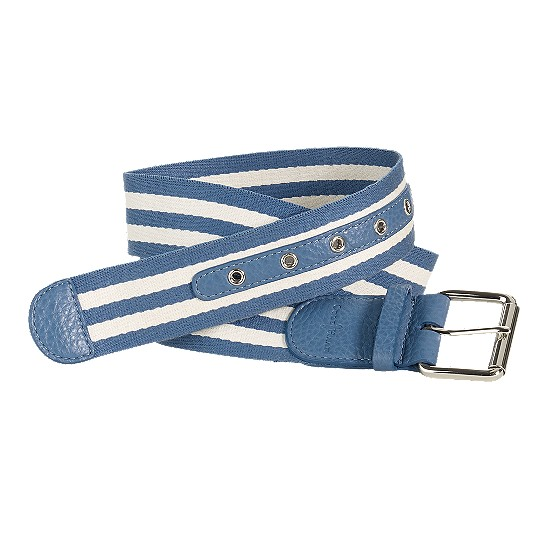 Cole Haan Webbing Belt Harbour Blue/Ivory Outlet Coupons