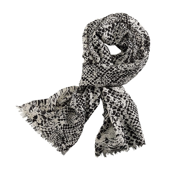Cole Haan Python Print Scarf White Pine/Black Outlet Coupons