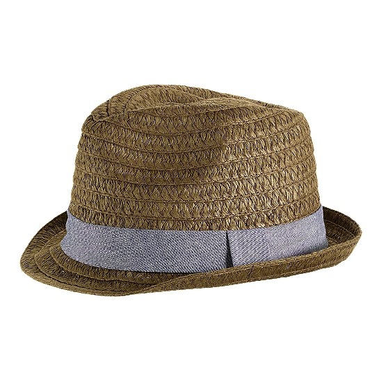 Cole Haan Straw Fedora Tobacco/Denim Blue Outlet Coupons