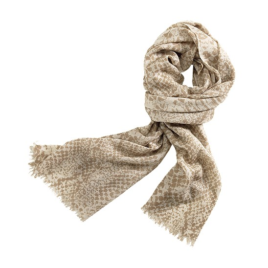 Cole Haan Python Print Scarf White Pine/Cove Outlet Coupons