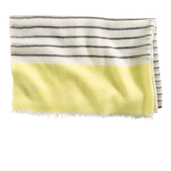 Cole Haan Transitional Stripe Scarf Ivory/Blk/Chickadee Outlet Coupons