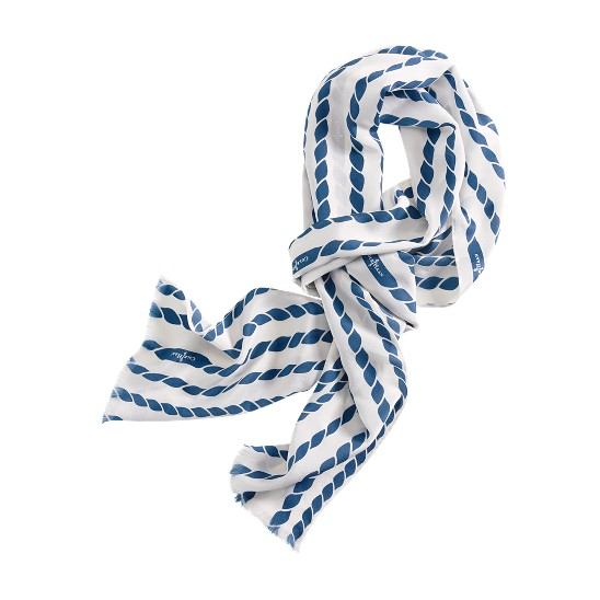 Cole Haan Uneven Rope Print Scarf White/Creek Outlet Coupons