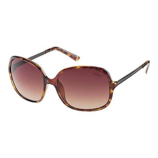 Cole Haan Square Etched Genevieve Temple Sunglasses Tortoise Outlet Coupons