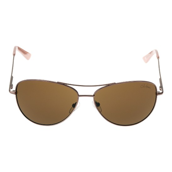 Cole Haan Metal Aviator w/Logo Sunglasses Bronze Outlet Coupons