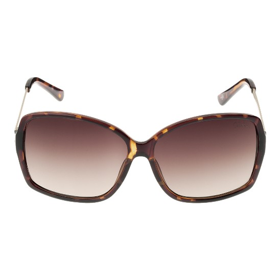 Cole Haan Acetate/Metal Square w/Logo Sunglasses Tortoise Outlet Coupons