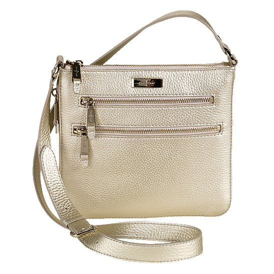 Cole Haan Village Sheila Crossbody White Gold Outlet Coupons
