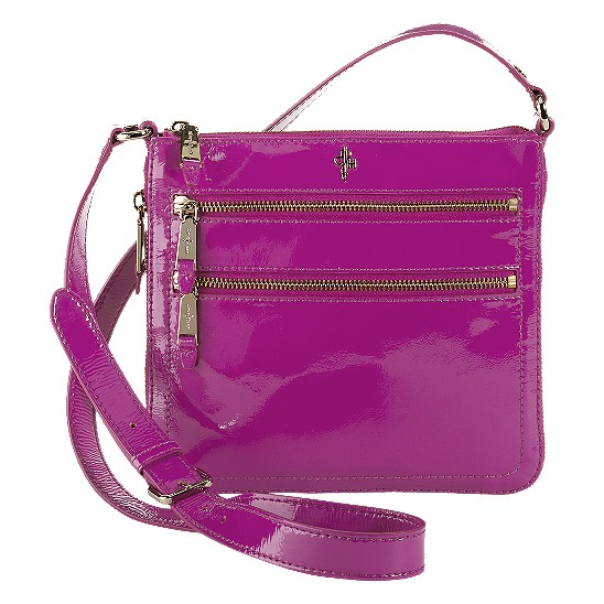 Cole Haan Jitney Sheila Crossbody Beet Patent Outlet Coupons