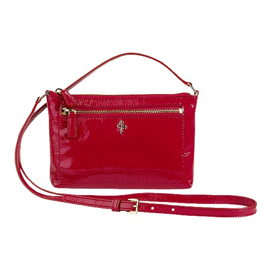 Cole Haan Jitney Ali Mini Crossbody Tango Red Patent Outlet Coupons