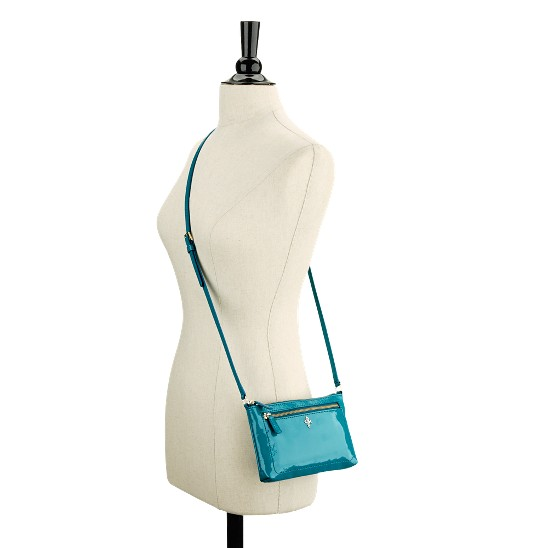 Cole Haan Jitney Ali Mini Crossbody Caribbean Patent Outlet Coupons