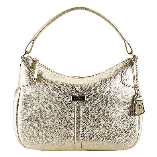 Cole Haan Village Small Rounded Hobo White Gold Outlet Coupons