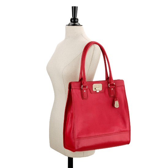 Cole Haan Vintage Valise Kendra Tote Tango Red Outlet Coupons