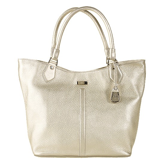 Cole Haan Village Serena Large Tote White Gold Outlet Coupons