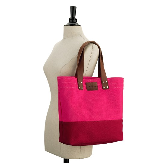 Cole Haan Jitney Color Block Tote Azalea/Tango Red Outlet Coupons