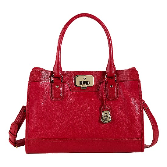 Cole Haan Vintage Valise Kendra E/W Tote Tango Red Outlet Coupons
