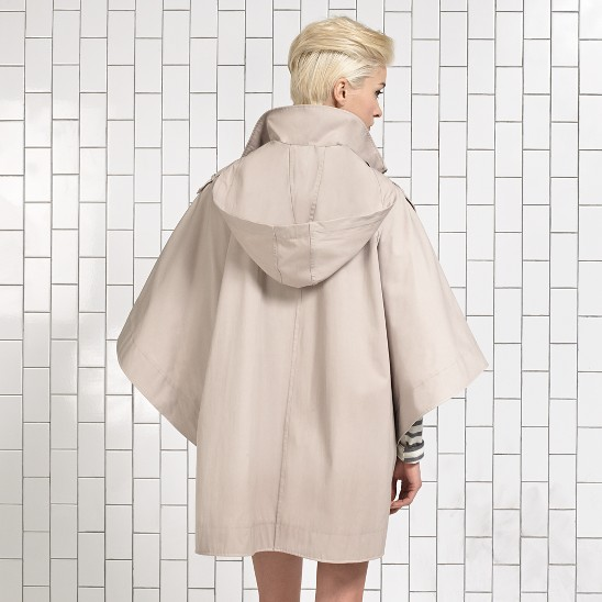Cole Haan Tech Gabardine Poncho/Cape Tan Outlet Coupons