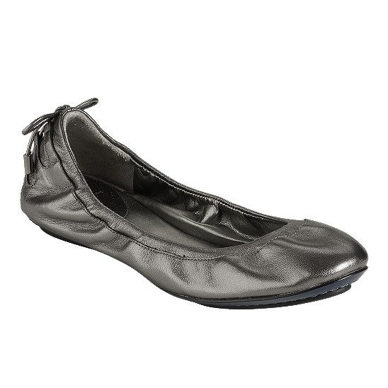 Cole Haan Air Bacara Ballet Dark Silver Metallic Outlet Coupons