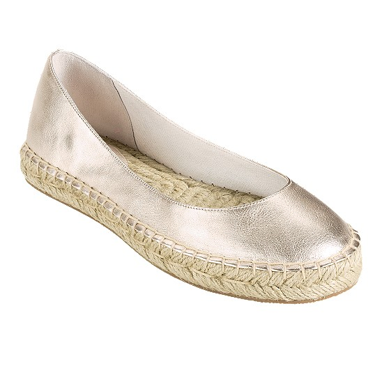 Cole Haan Aimee Ballet Soft Gold Metallic Outlet Coupons