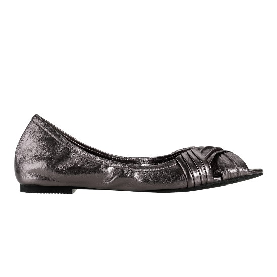 Cole Haan Air Nadine Open Toe Ballet Gunsmoke Metallic Nappa Outlet Coupons