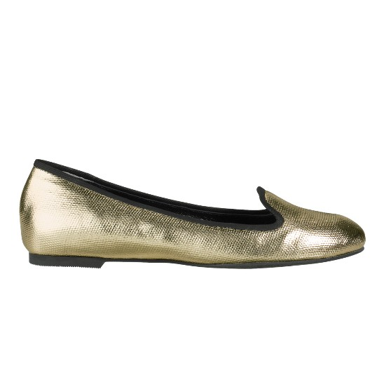 Cole Haan Air Morgan Slipper Ballet White Gold Metallic Canvas Outlet Coupons