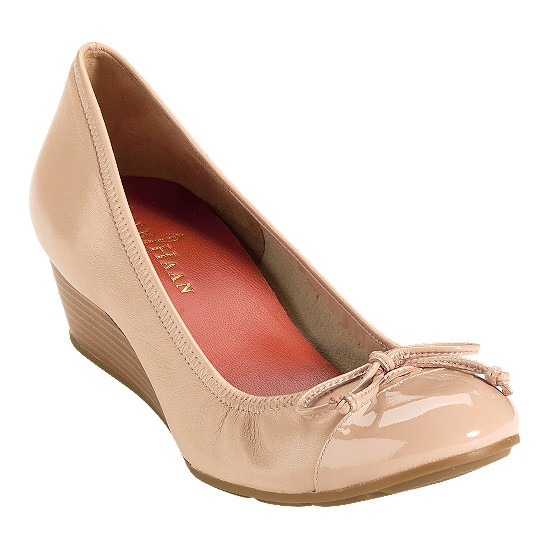 Cole Haan Air Tali Wedge Beige/Beige Patent Outlet Coupons