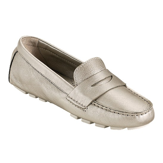 Cole Haan Air Sadie Driver White Gold Metallic Outlet Coupons