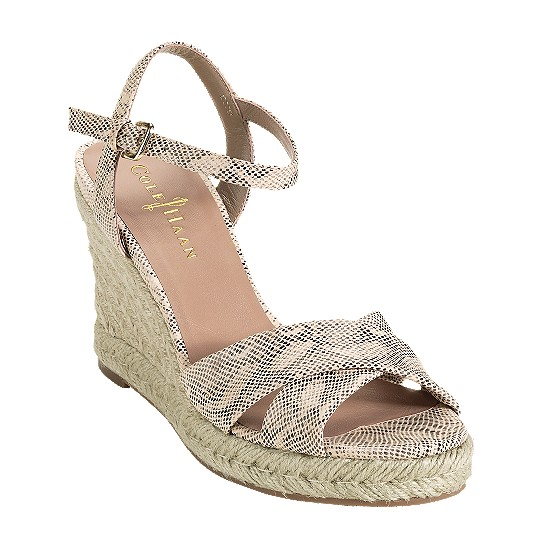 Cole Haan Air Camila Sandal 90 White Pine Snake Print Outlet Coupons