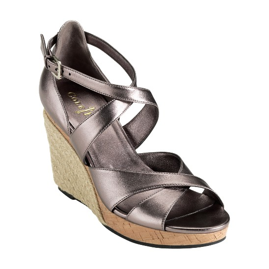 Cole Haan Air Marisa Sandal Gunsmoke Metallic Outlet Coupons