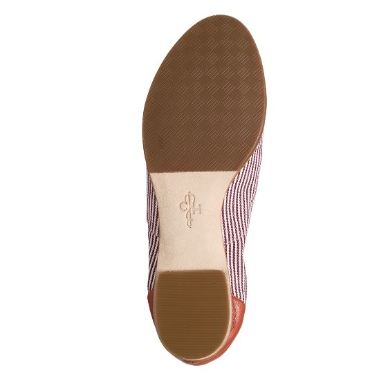 Cole Haan Kody Oxford Barn Door Nappa/Chestnut Stripe Linen Outlet Coupons
