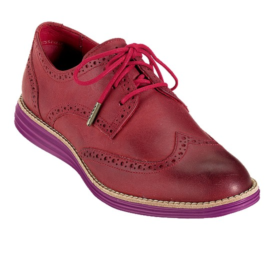 Cole Haan LunarGrand Wingtip Formula One Red Outlet Coupons