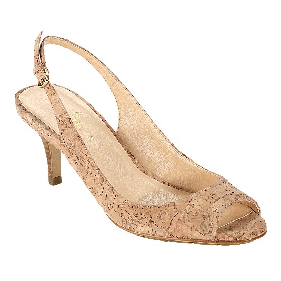 Cole Haan Air Talia Open Toe Sling 60 Natural Cork Outlet Coupons