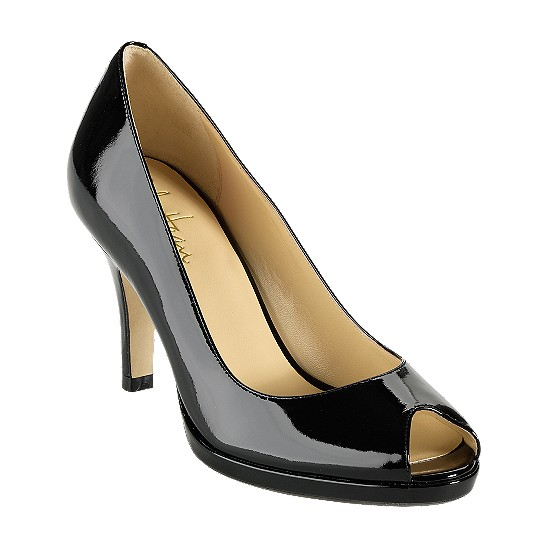 Cole Haan Carma Open Toe Air Pump Black Patent Outlet Coupons