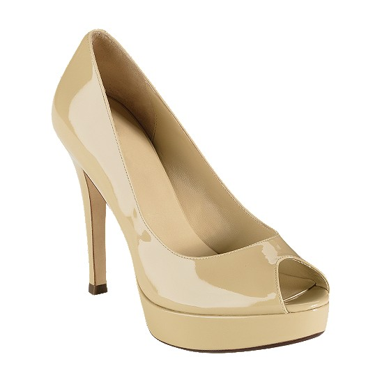 Cole Haan Mariela Air Open Toe Pump Nougat Patent Outlet Coupons