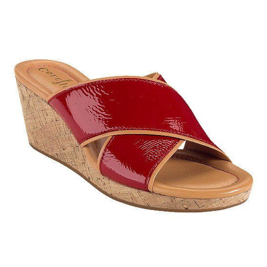 Cole Haan Air Britney Slide Tango Red Patent/Cork Outlet Coupons