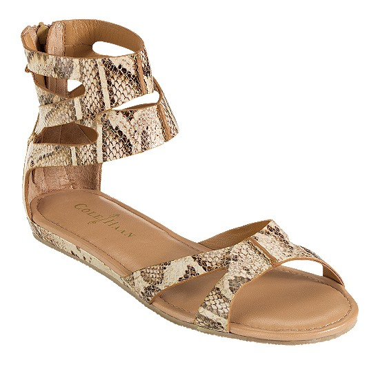 Cole Haan Kimry Flat Sandal Cream Snake Print Outlet Coupons