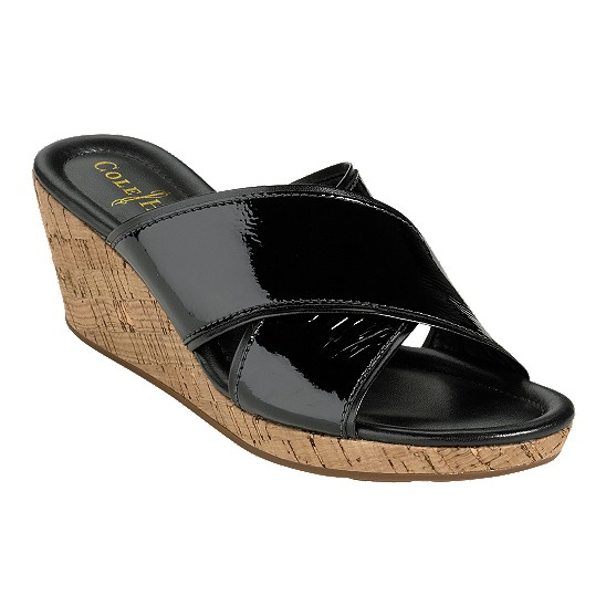 Cole Haan Air Britney Slide Black Patent/Cork Outlet Coupons