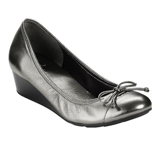 Cole Haan Air Tali Wedge Dark Silver Metallic Outlet Coupons