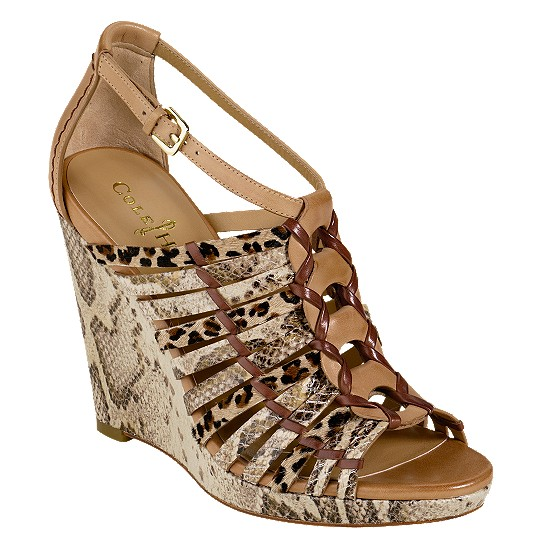 Cole Haan Air Minka Wedge Cream Snake Print/Sandalwood/Leopard Haircalf Outlet Coupons