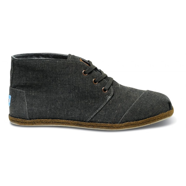 Toms Burnt Chambray Men Desert Botas Outlet Coupons